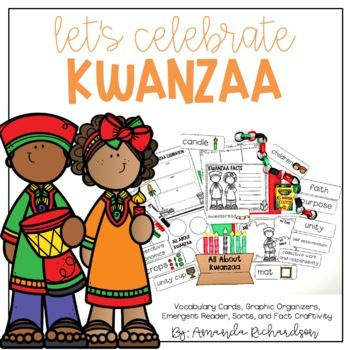 Kwanzaa Activities: Graphic Organizers, Mini-Book, and Craft