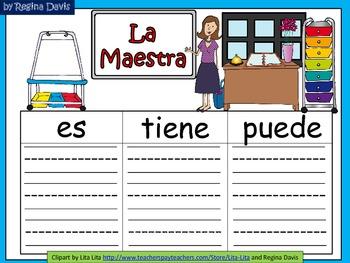 A+ La Maestra...Three Spanish Graphic Organizers