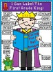 A+ Labeling Poster: I Can Label The First Grade King!