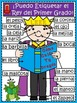A+ Labeling Poster: I Can Label The First Grade King! (SPA