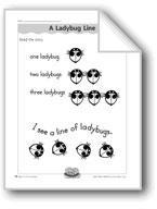 A Ladybug Line (letter/sound association for 'l')