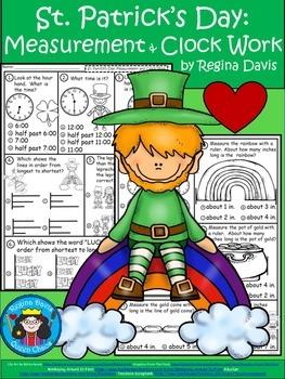 A+  Leprechaun Math: St. Patrick's Day Clocks and Measurement