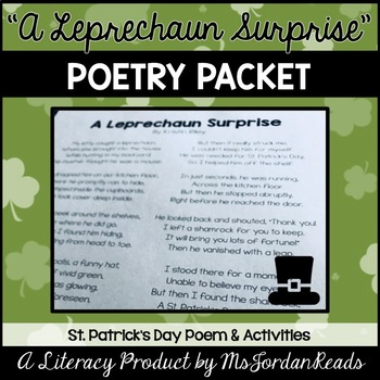 """""""A Leprechaun's Surprise!"""" {St. Patrick's Day Poetry Packet}"""