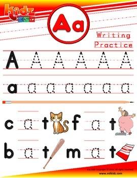 A Letter Phonics Tracing Writing Sheet