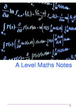 A Level Maths Notes