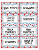 Classroom Supply Labels: Editable: A Little Bit of Whimsy