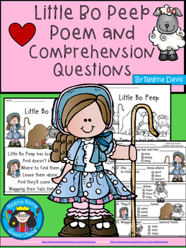 A+ Little Bo Peep Comprehension For Guided Reading
