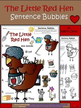 A+ Little Red Hen: Fill In the Blank.Multiple Choice Sight