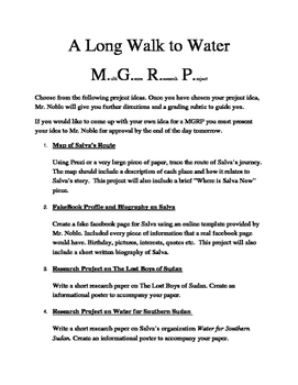 A Long Walk To Water Multi-Genre Research Project