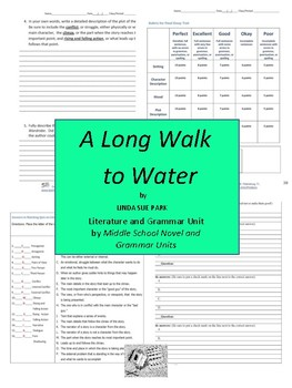 A Long Walk to Water Complete Literature and Grammar Unit