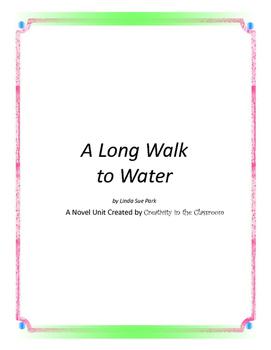 A  Long Walk to Water Novel Unit Plus Grammar SAMPLE