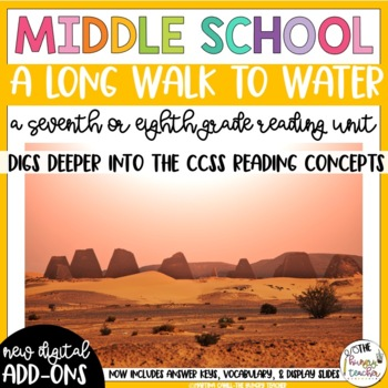 A Long Walk to Water Reading Unit Novel Study (7th and 8th