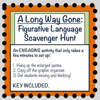 A Long Way Gone: Figurative Language Scavenger Hunt