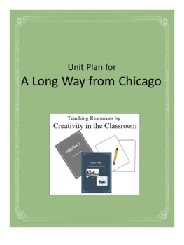A  Long Way from Chicago Novel Unit Plus Grammar