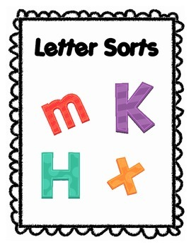 A Lovey Little Letter Sort and Graph activity