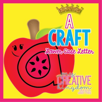A Lower Case Alphabet Letter Craft (Journey's Aligned)