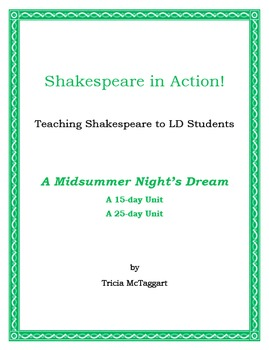 A MIDSUMMER NIGHT'S DREAM ~ Shakespeare for LD Students ~