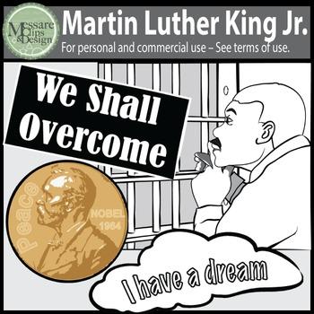 A MLK-Martin Luther King Jr Clip Art Freebie {Messare Clip