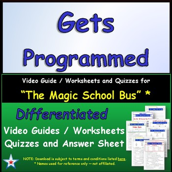 "A Magic School Bus ** ""Gets Programmed"" Worksheet, Answer"