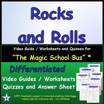 "A Magic School Bus ** ""Rocks and Rolls"" Worksheet, Answer"