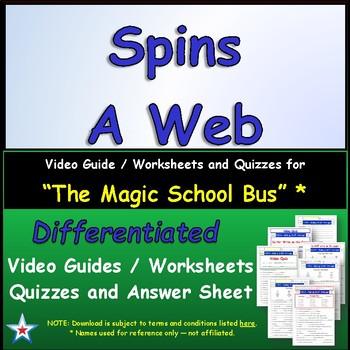 "A Magic School Bus ** ""Spins a Web"" Worksheet, Answer Shee"