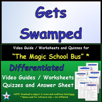 "A Magic School Bus ** ""Gets Swamped"" Worksheet, Answer She"