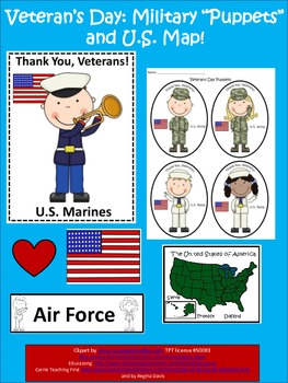 "A+  Free...Map and ""Puppets"" For Veterans Day...Thank You"