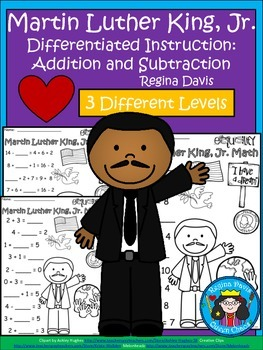 A+ Martin Luther King, Jr. Addition and Subtraction Differ
