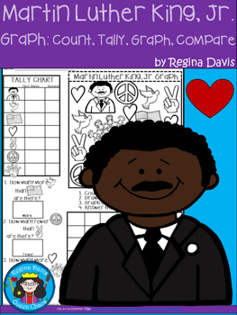 A+ Martin Luther King, Jr....Count, Tally, Graph, and Compare
