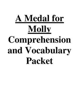A Medal for Molly Guided Reading Unit Level P