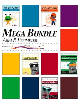 Perimeter and Area – MEGA BUNDLE – Task Cards and Math Games