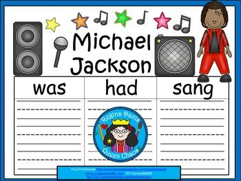 A+ Michael Jackson... Three Graphic Organizers