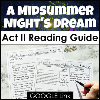 A Midsummer Night's Dream Act II Reading Guide {Study Guide}