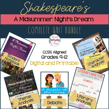 Shakespeare's-A Midsummer Night's Dream-Unit BUNDLE! Digit