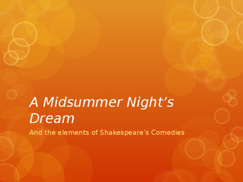 A Midsummer Night's Dream - Introductory PowerPoint
