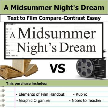A Midsummer Night's Dream - Text to Film - Compare and Con