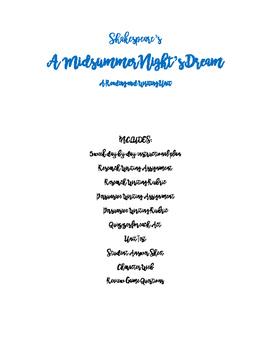 A Midsummer Night's Dream Unit Plan