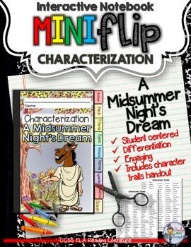 A MIDSUMMER NIGHT'S DREAM: INTERACTIVE NOTEBOOK CHARACTERI