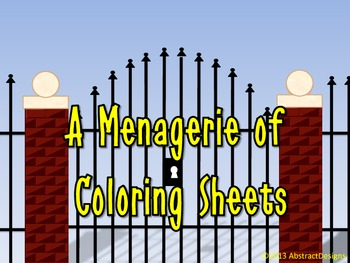 A Menagerie of Coloring Sheets