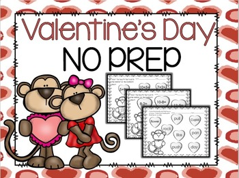 Valentine's Day MATH and LANGUAGE ARTS NO PREP  Printables
