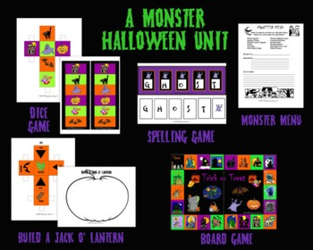 A Monster Halloween Speech Therapy Bundly