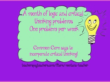A Month of Logic and Critical Thinking problems.