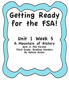 A Mountain of History - Getting Ready for the FSA Quiz, Re