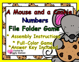 A Mouse and a Cookie Numbers File Folder Game