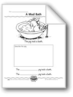 A Mud Bath (Draw a Pig/Use Adjectives)