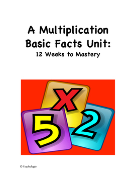 A Multiplication Basic Facts Unit:  12 Weeks to Mastery