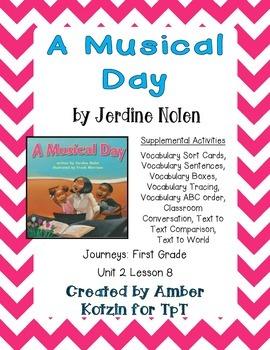A Musical Day Supplemental Activities 1st Grade Journeys U
