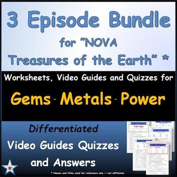 A NOVA - Treasures of Earth - 3 Episodes - Worksheet, Ans.