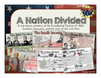 A Nation Divided: Election of 1860 and Secession PowerPoin