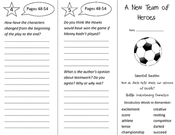 A New Team of Heroes Trifold - Journeys 3rd Grade Unit 6 W